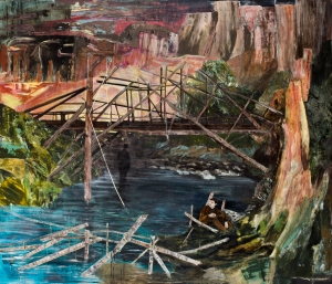 """A Devil's Bridge"" (2011–2012), by Hernan Bas. Courtesy of the artist and Lehmann Maupin, New York, Hong Kong, and Seoul"