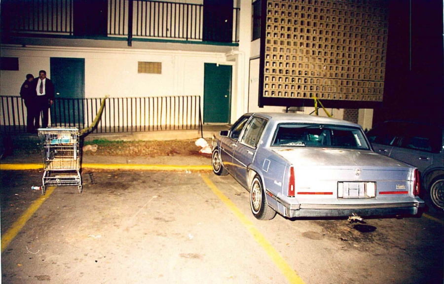 The crime scene at Live Oaks, New Orleans, 1997. Courtesy of New Orleans Police Department