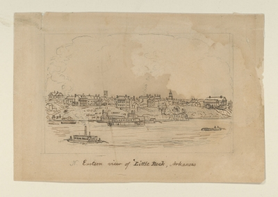 N. eastern view of Little Rock, Arkansas, by John Warner Barber. Courtesy of The New York Public Library.