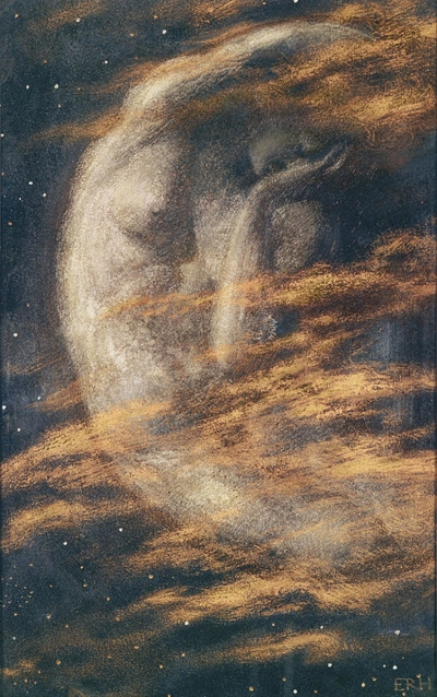 """The Weary Moon"" by Edward Robert Hughes on Wikimedia Commons"