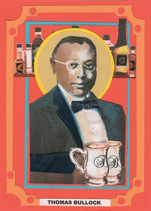 "Alice Randall commissioned portraits by artist Jimmy James Greene to commemorate the ""saints"" featured  in her novel ""Black Bottom Saints"" (2020)—including an extraordinary bartender, barkeep, and barbecue man."