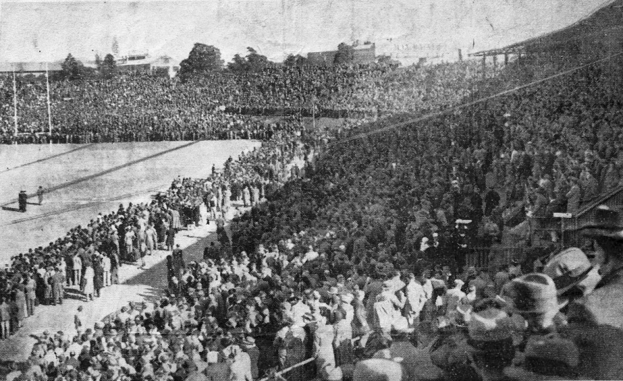 Ellis Park Stadium, 1938, South Africa v. British Lions, from Wikimedia Commons