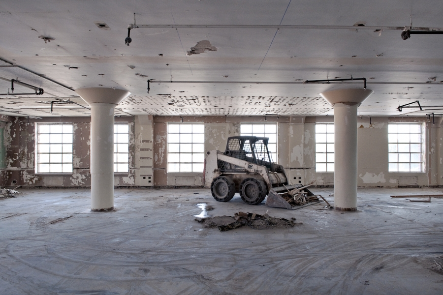 Inside the Ponce City Market during its restoration | All photographs by Blake Burton